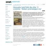 """Henzel, Przemysław. """"Niezwykły hołd Polki dla ofiar 11 września,"""" Onet.pl, Sep. 2012."""