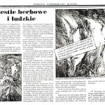 "Gulla Jacek, ""Bestie herbowe i ludzkie,"" Kurier Plus, New Yok, October 1997."