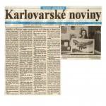 """""""Malirka z Polska bude vystavovat sve obrazy v Americe,"""" Karlovarske Noviny, Karlovy Vary, the Czech Republic, June 14, 1997."""