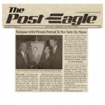 European Artist Presents Portrait to New York City Mayor, The Post Eagle, 11-2009.