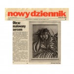 "Ringer, Elzbieta, ""Obraz Malowany Sercem,"" Polish Daily News, New York, Oct. 4 1997"
