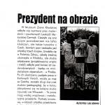"""""""Prezydent na obrazie,"""" Walbrzyski Tygodnik, Poland, November 1996."""