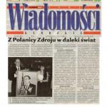 """""""Z Polanicy Zdroju w daleki swiat"""", Nowe Wiadomosci Klodzkie, December 2001."""