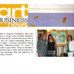 Art Business News, March 2009, Ralph J. Sansone Foundation