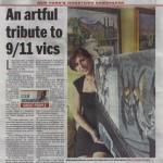 "Richardson, Clem. ""An Artful Tribute to 9-11 Vics"" New York Daily News, Sep. 2011"