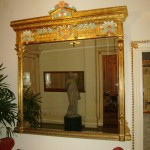 Old mirror after restoration -gilded and painted