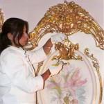 Gilding of a molding