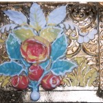 Detail of mirror decorations - gilded and painted