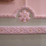 Gilded and painted plaster molding