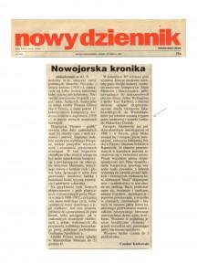 Karkowski, Czeslaw, Polish Daily News, New York Chronicle, October 1997